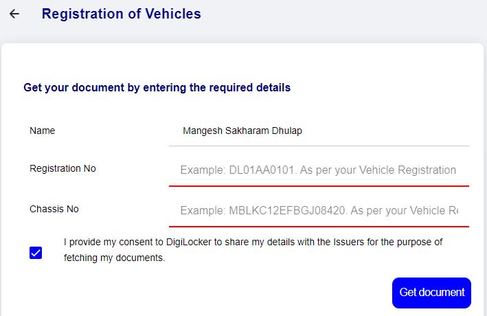 Registration of Vehicles