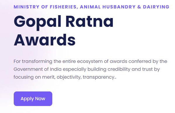 Gopal Ratna Awards - Apply Now