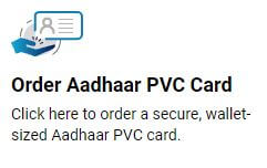 Order Aadhaar PVC Card