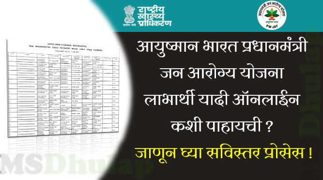Ayushman Bharat Pradhan Mantri Jan Arogya Yojana Beneficiary List