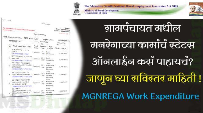 Gram Panchayat MGNREGA Work Expenditure